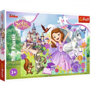"Puzzle ""24 Maxi"" Trefl Disney Sofia the First KOLOROWY ŚWIAT ZOSI"