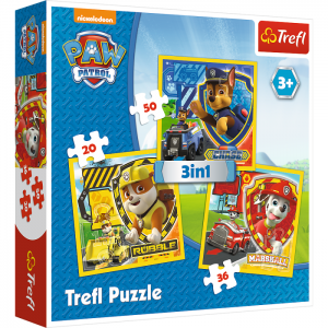 "Puzzle - ""3w1"" - Marshall, Rubble and Chase / Viacom PAW Patrol"